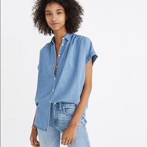 Madewell central denim shirt xxs